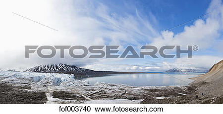 Stock Photography of Europe, Norway, Spitsbergen, Svalbard, View.
