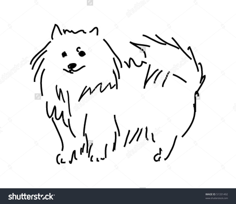Vector Spitz Dog Sketch Stock Vector 51331492.
