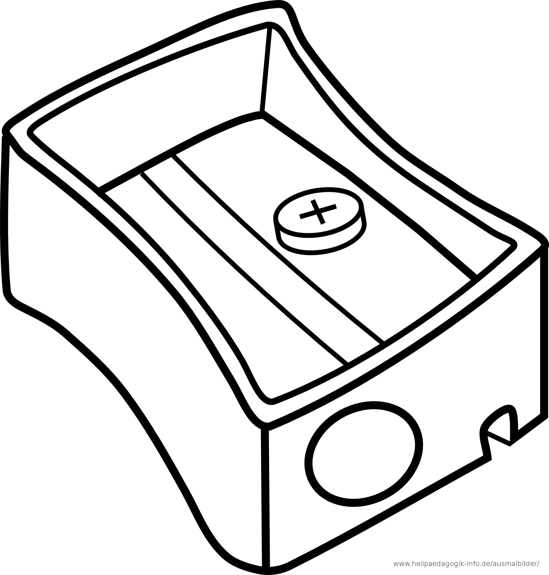 Pen Color Page Clipart.