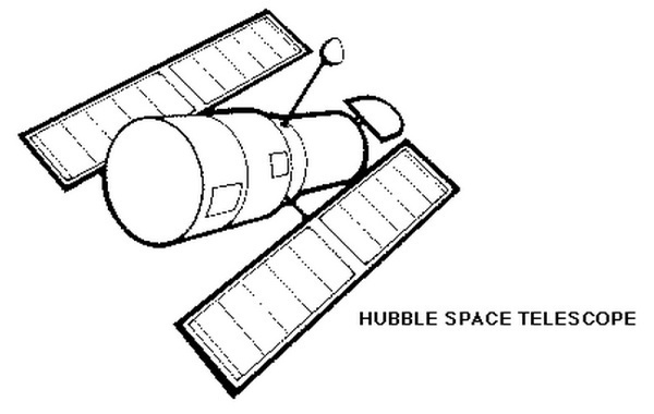 Hubble telescope clipart.