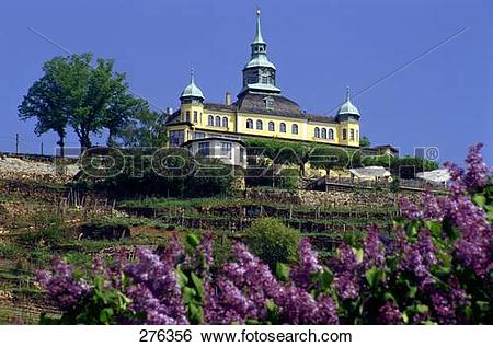 Stock Images of Low angle view of spitzhaus, Radebeul, Dresden.