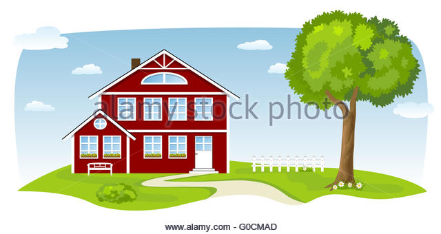 Country House Cut Out Stock Images & Pictures.