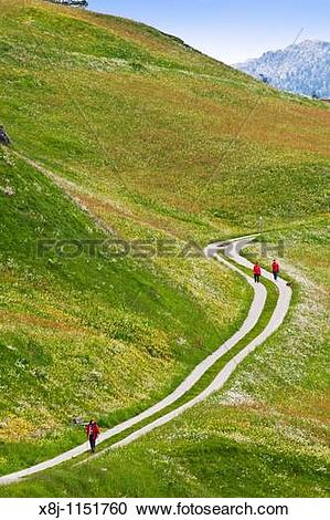 Stock Photography of Trekking, Splugen, Canton Grigioni.