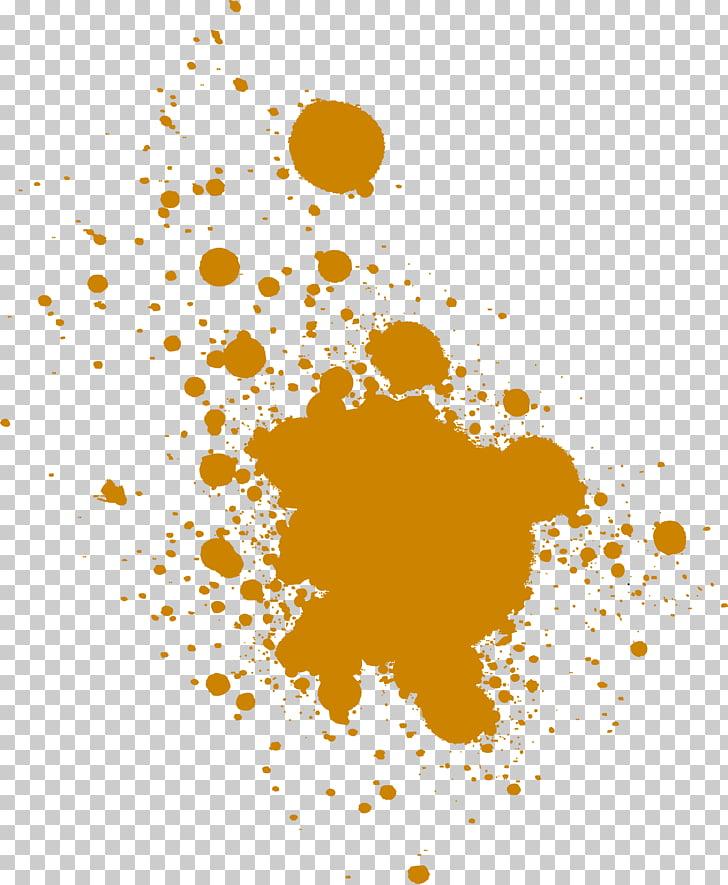 Acuarela pintura graffiti splash, creativo graffiti amarillo.