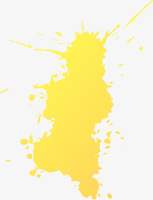 Splash amarillo abstracto PNG Clipart.