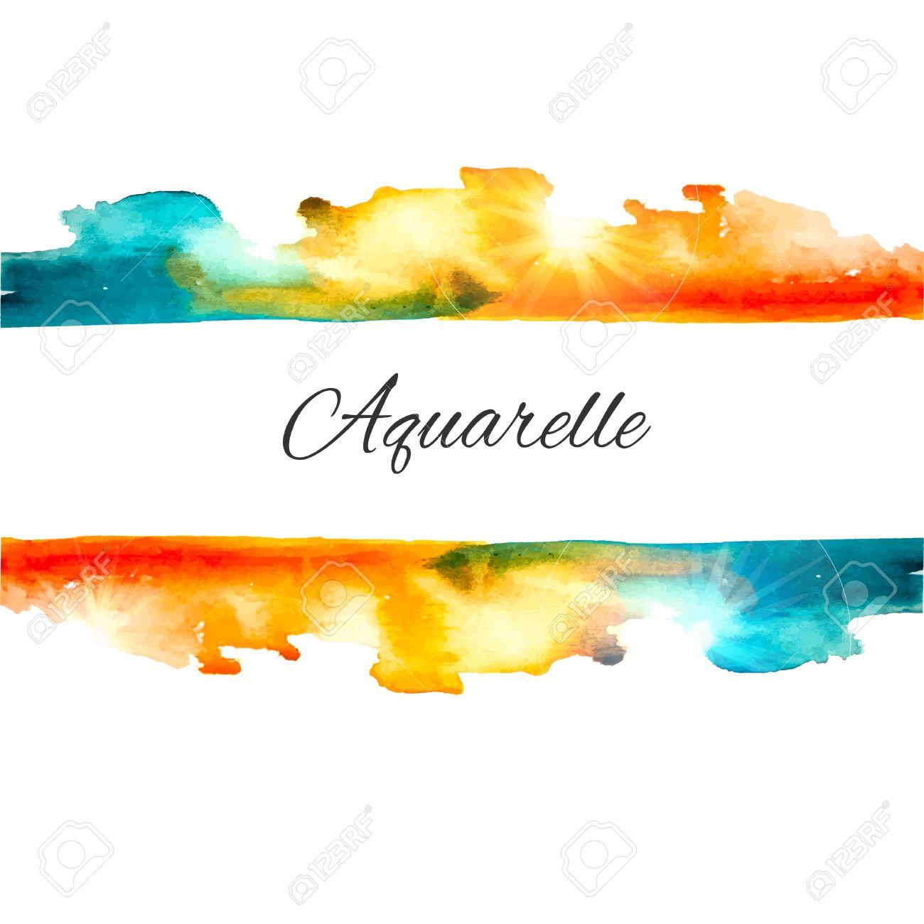 Vector Watercolor Splash Background. Colorful Vector Aquarelle.