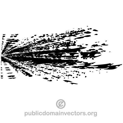 Ink splatter vector clip art.