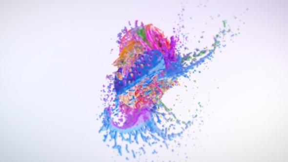 Colorful Splash Logo Reveal.
