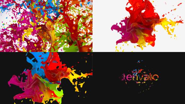Liquid Paint Splash Logo.
