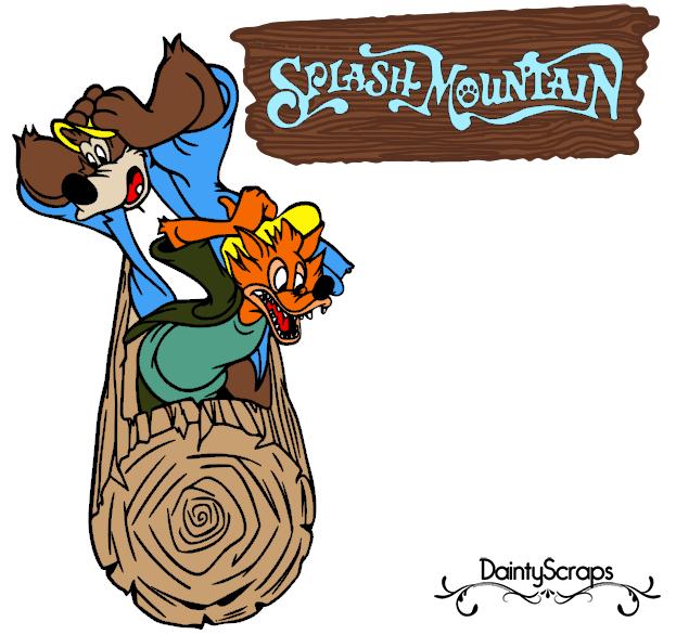 Disney Rides Splash Mountain SVG DaintyScraps.com.
