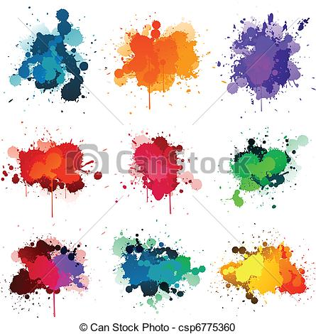 Vector Clipart of color splash on white.