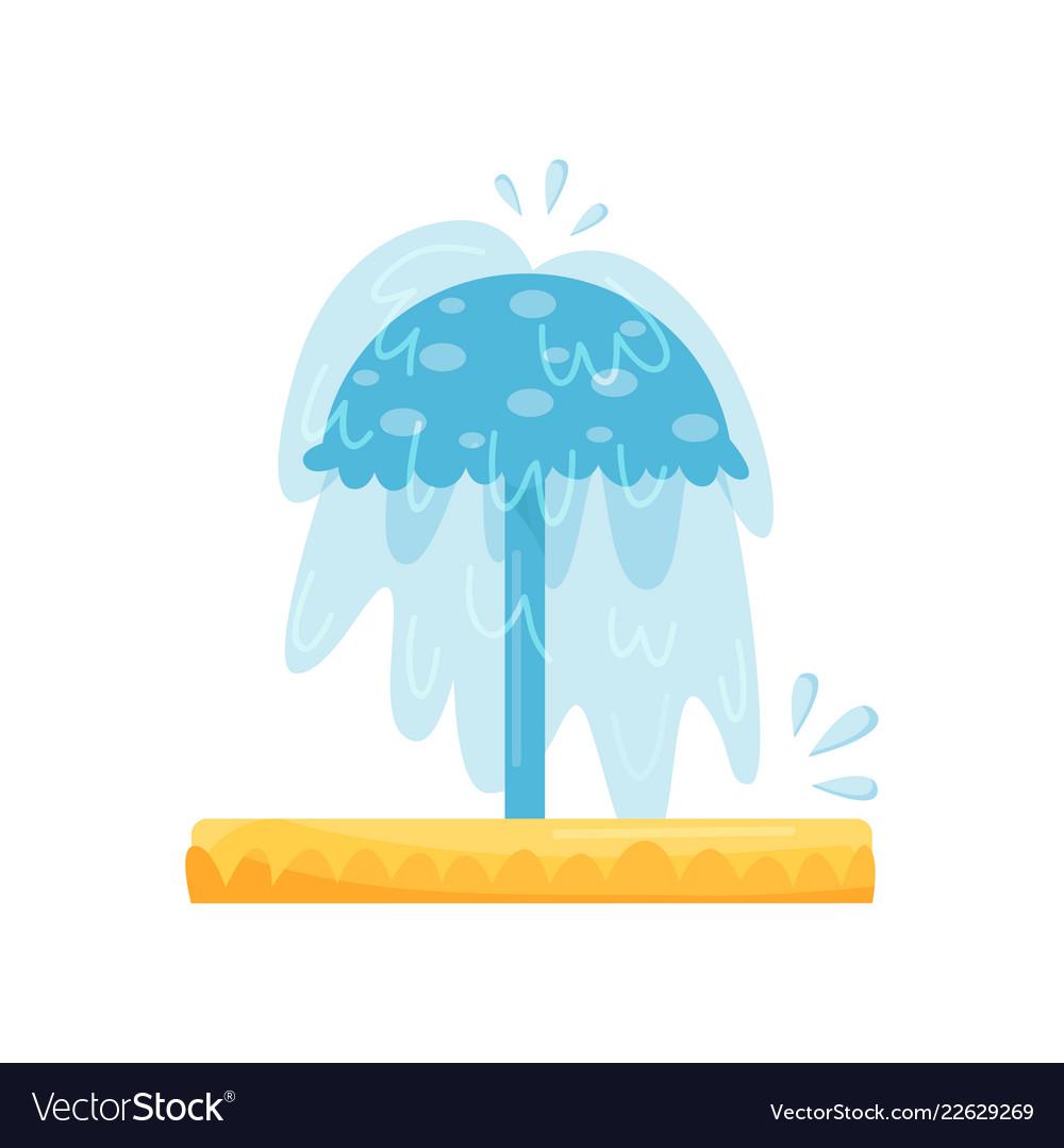 Splash pad water umbrella small pool for kids.