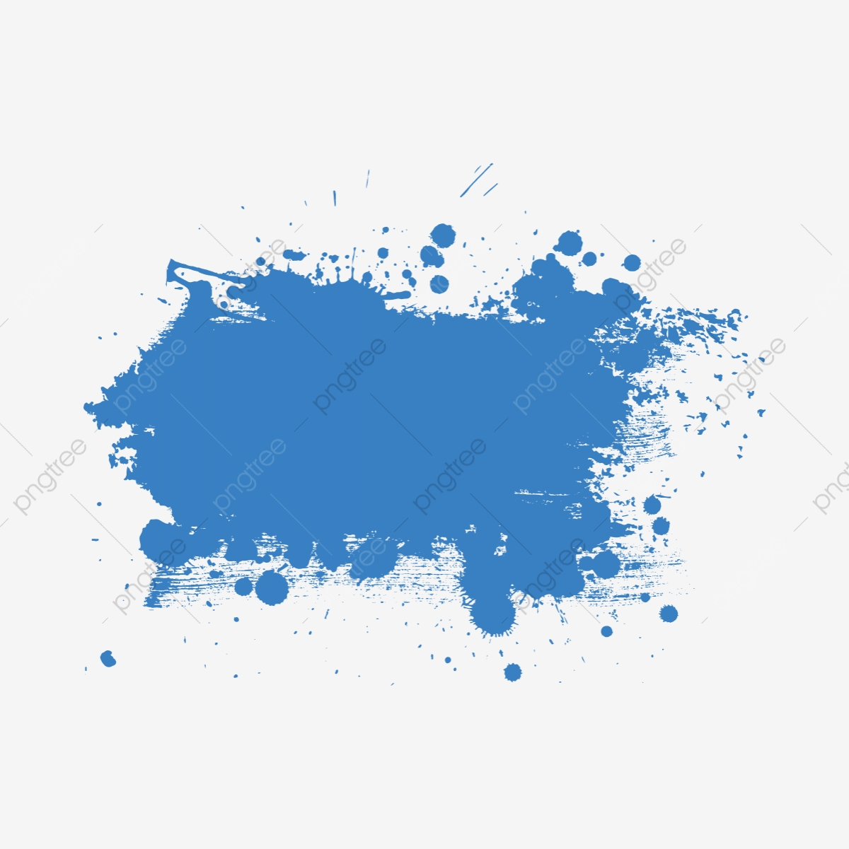 Blue Paint Splash, Blue, Paint, Splash PNG and Vector with.