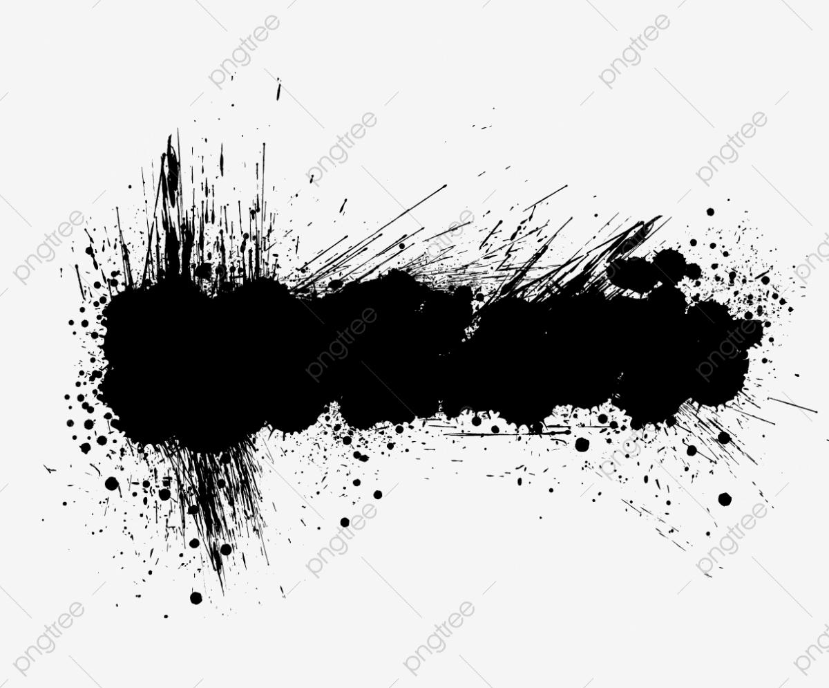 Ink Splashes Vector Material, Long Pomo, Splash, Banner PNG.