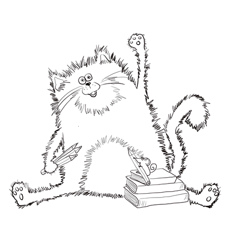 Splat the Cat coloring page.