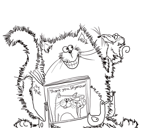 Splat the cat coloring pages.