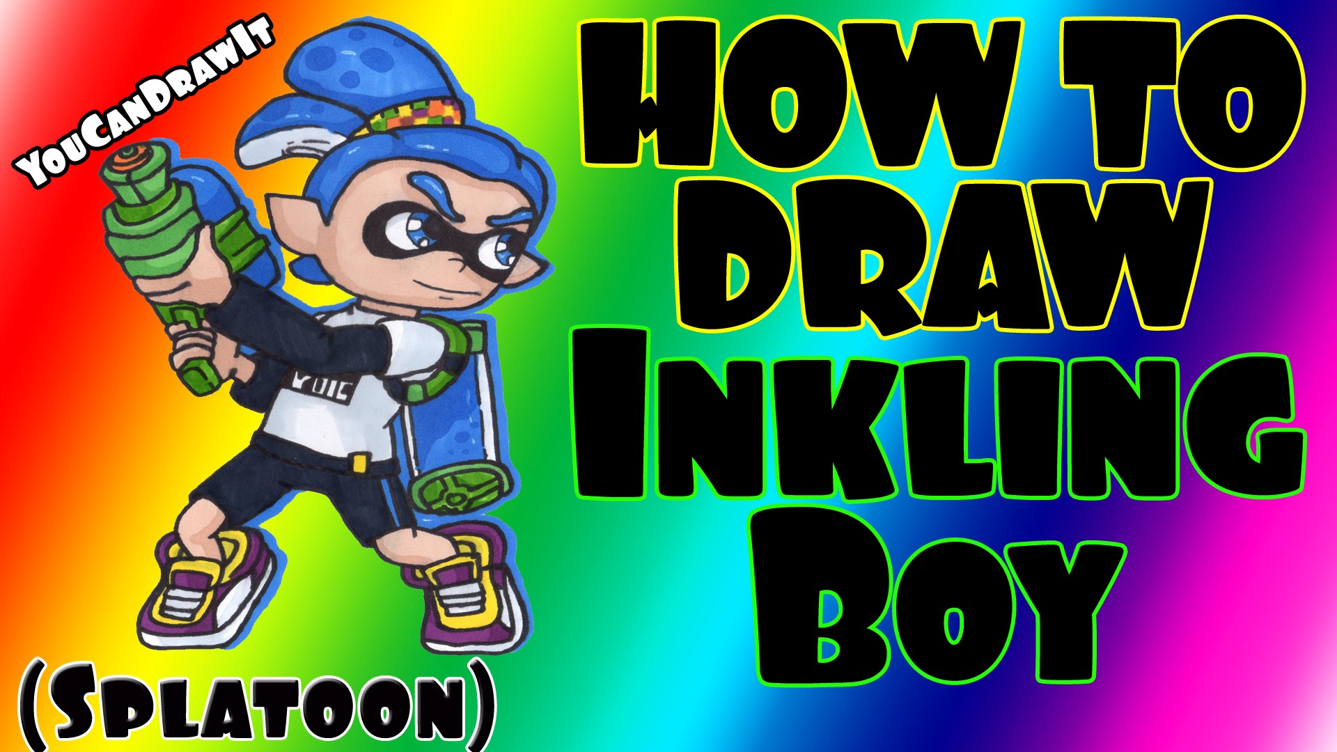 How To Draw Inkling Boy from Splatoon ✎ YouCanDrawIt ツ 1080p HD.