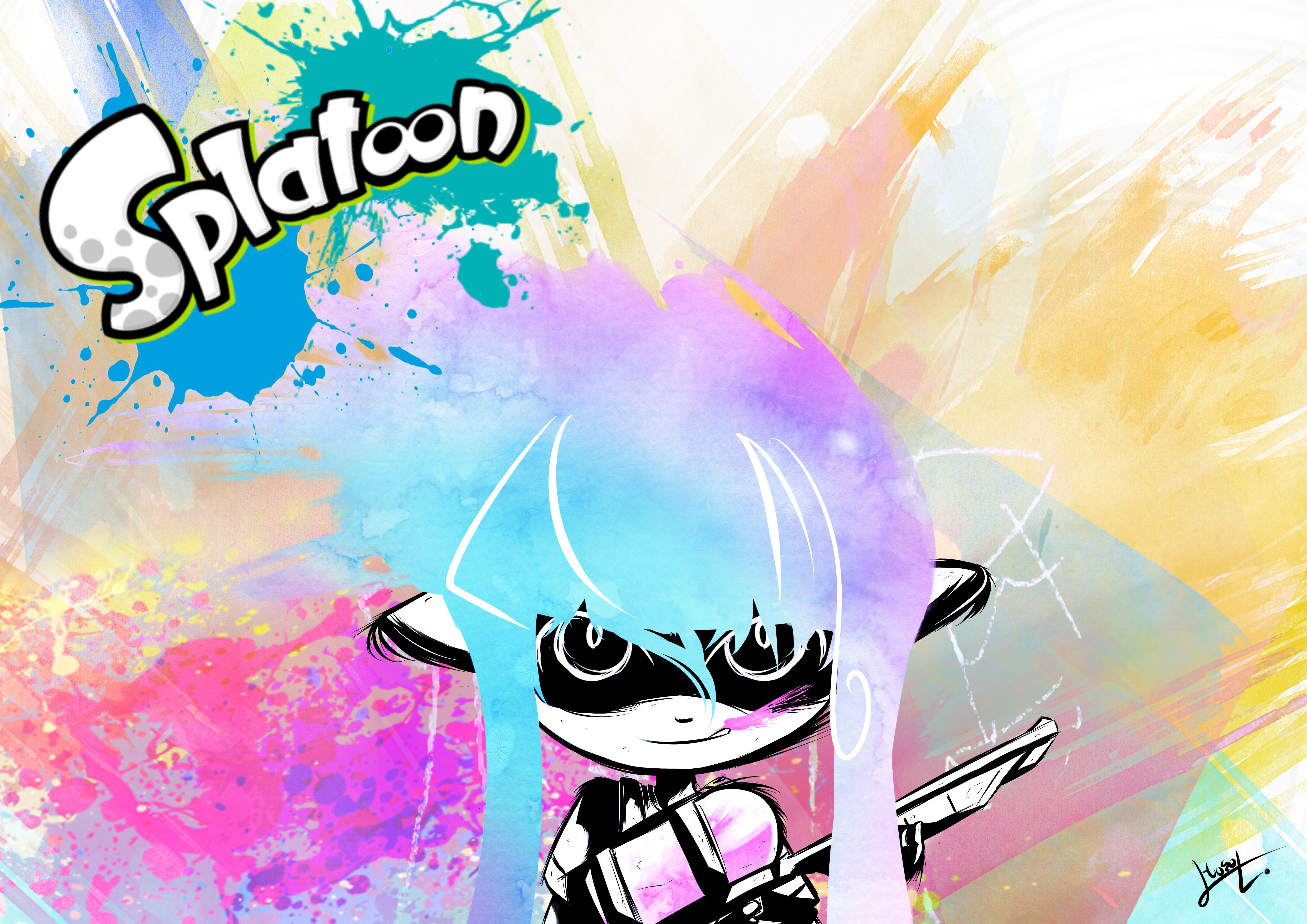 splatoon 1080p high quality 4961x3508.