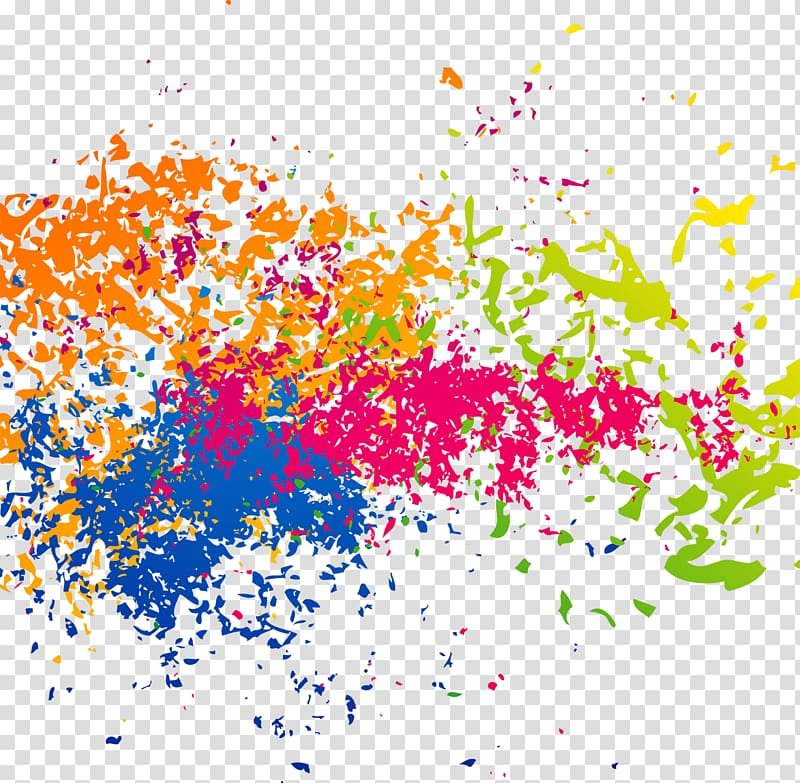 Of paint splatter, Ink Brush effect transparent background.