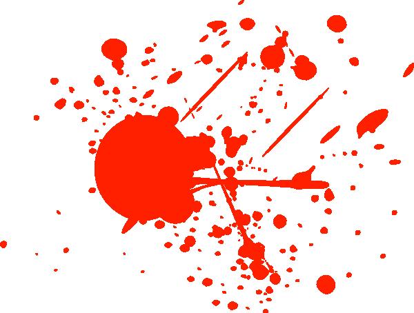 Blood Splatter Clipart.