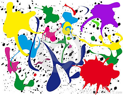 Splatter paint clipart.
