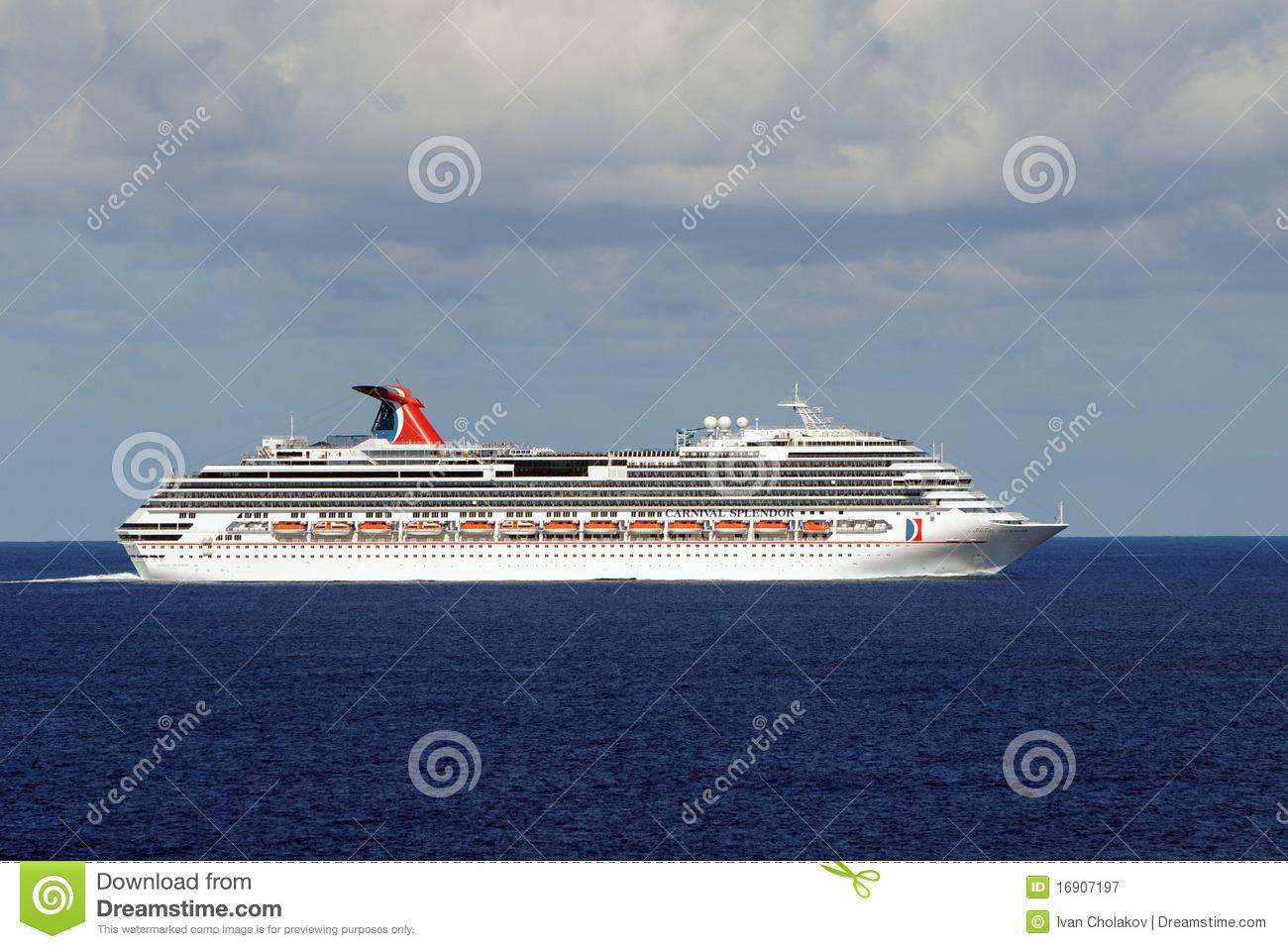 Carnival Splendor Stranded At Sea Editorial Photography.