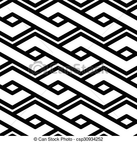 Clipart Vector of Black and white abstract textured geometric.