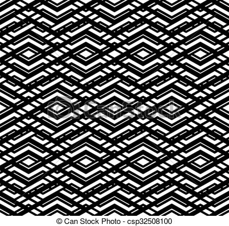 Vector Clipart of Modern zigzag contrast geometric seamless.