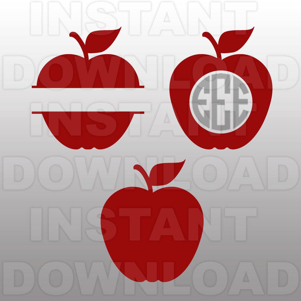 Apple monogram clipart.