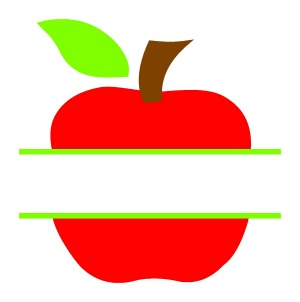 Split Apple SVG.