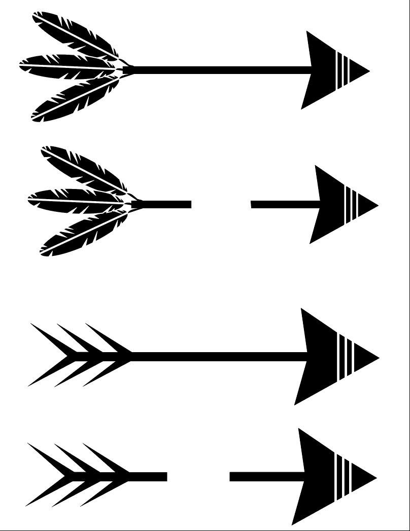 Split Arrow Silhouette.