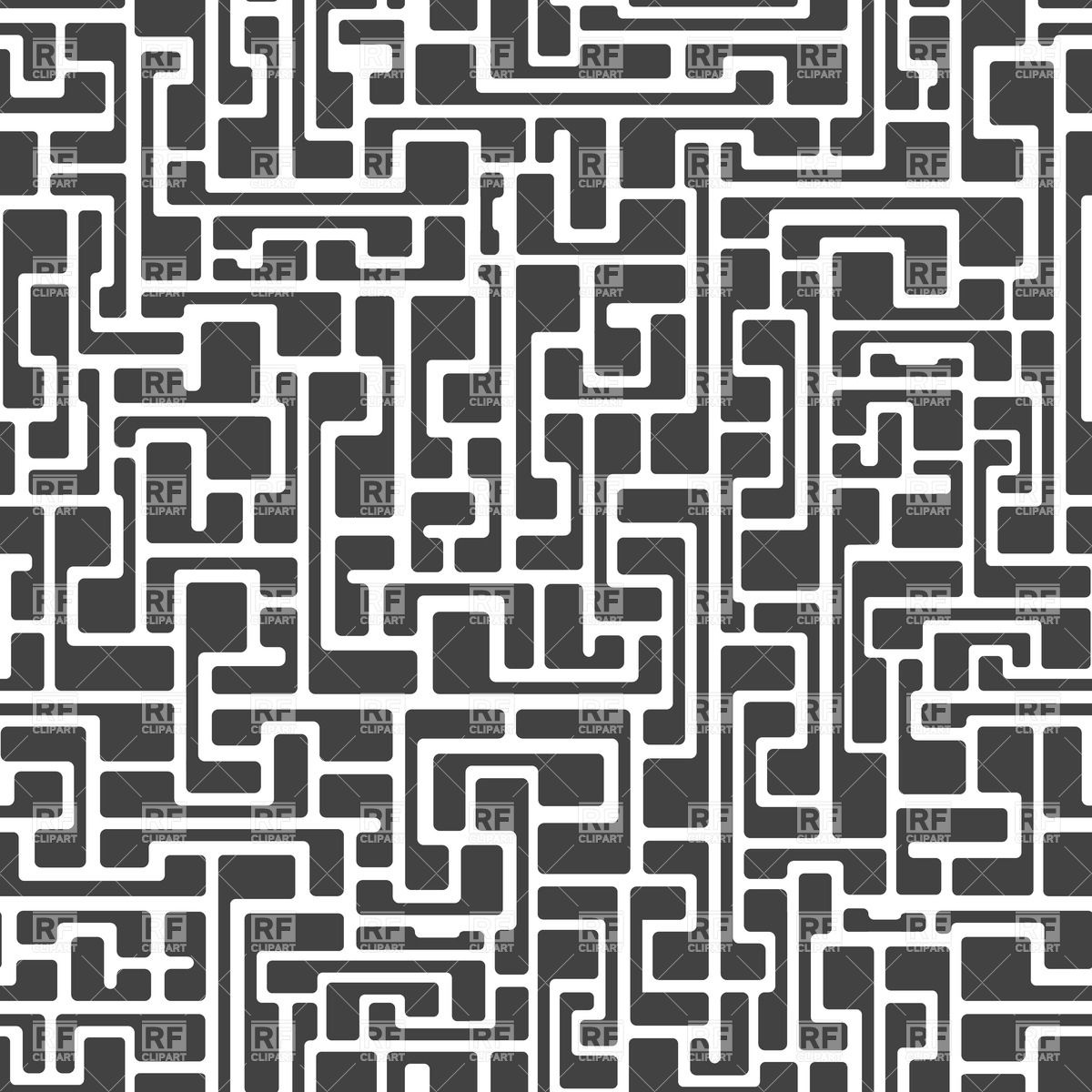 Labyrinth abstract seamless pattern.