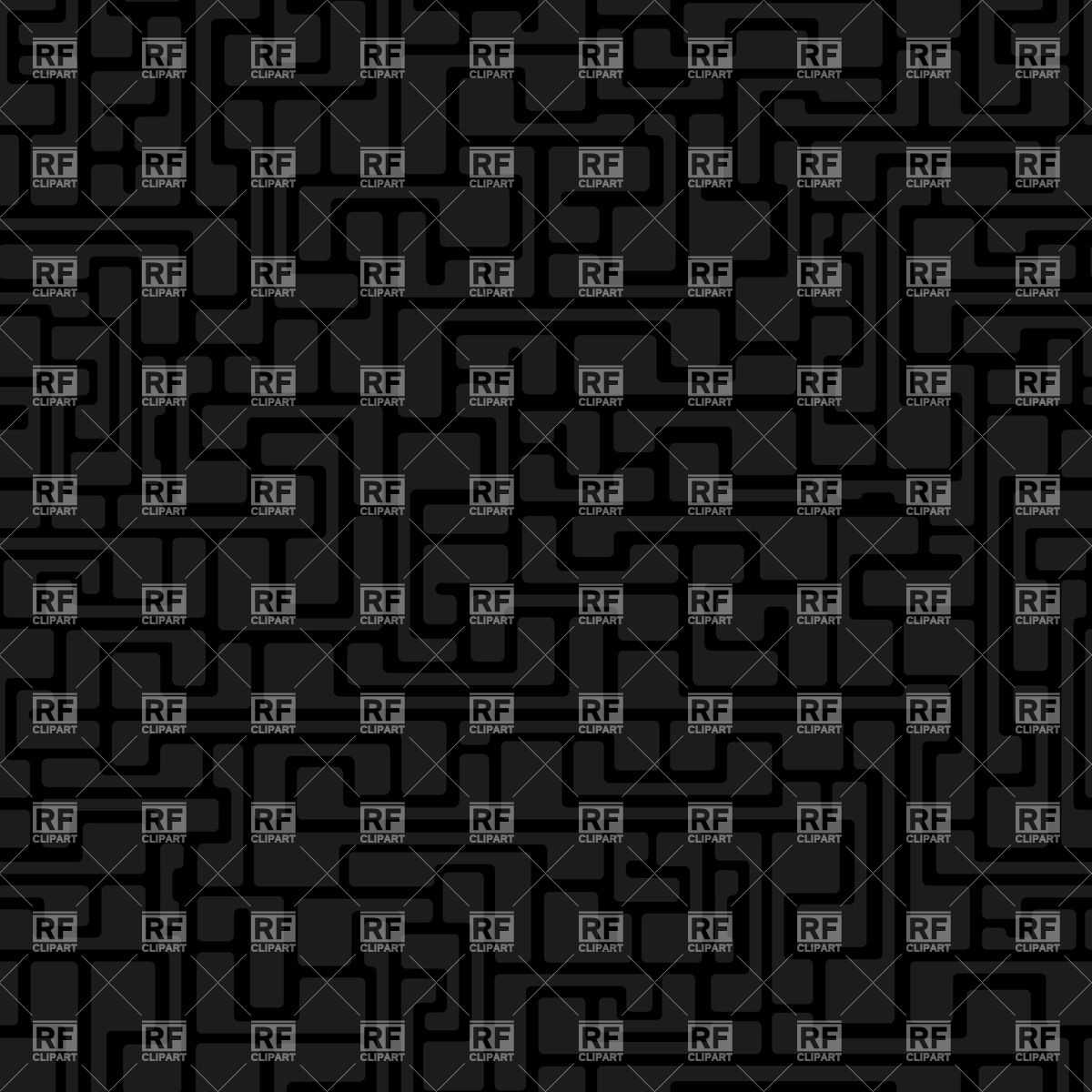 Seamless dark labyrinth pattern Vector Image #28216.