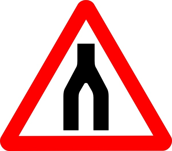 Road Signs Road Split Merge clip art Free vector in Open office.
