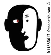 Split personality Clip Art and Illustration. 23 split personality.