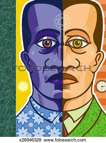 Split personality Illustrations and Clip Art. 35 split personality.