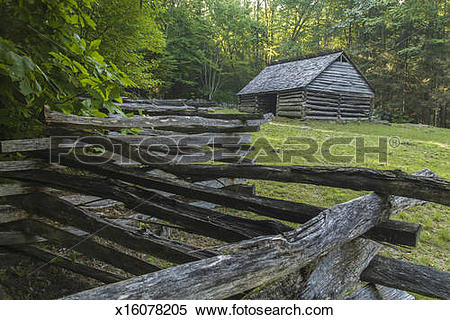 Stock Image of Barn and split.