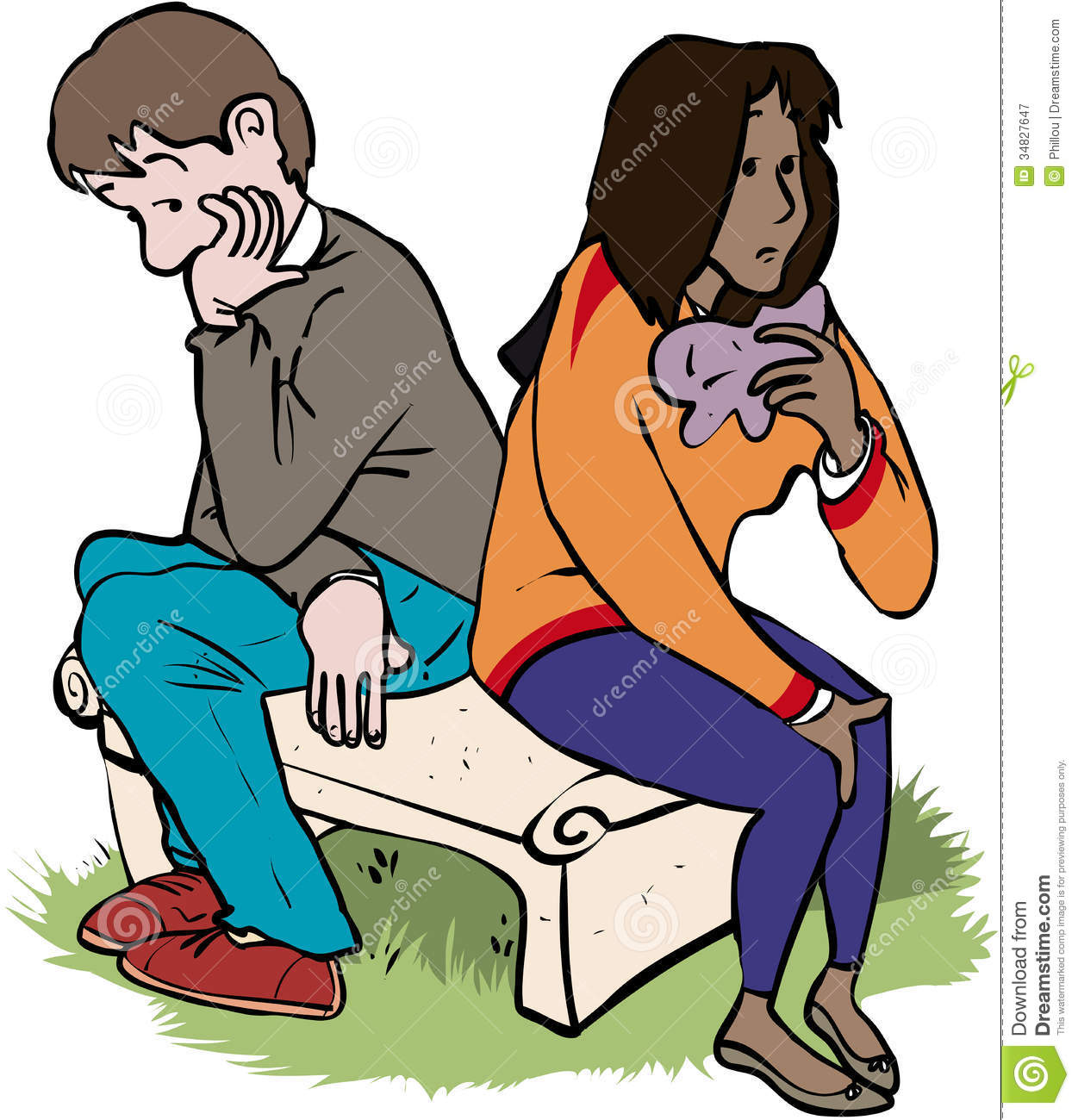 Break Up Clip Art.