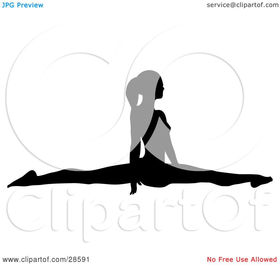 Gymnastics Clipart Silhouette Split.