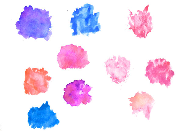 Watercolor Splotches Clip Art.