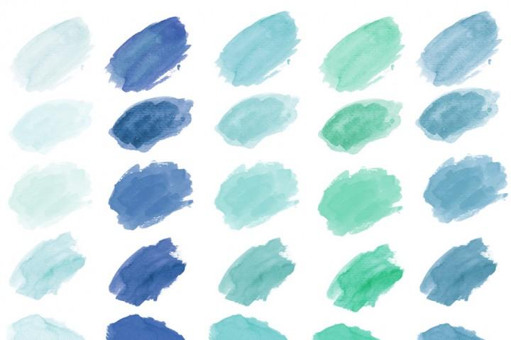 Watercolor Clip Art, Watercolor Splotches, Watercolor Strokes by.
