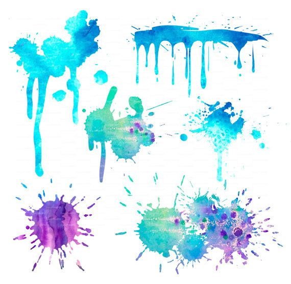 Water Color Splotches Clipart.