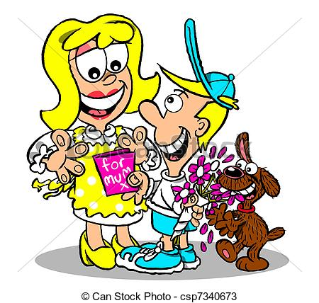 Spoiled kids clipart.