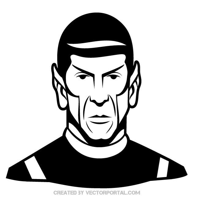 Mr.Spock Portrait Free Vector.