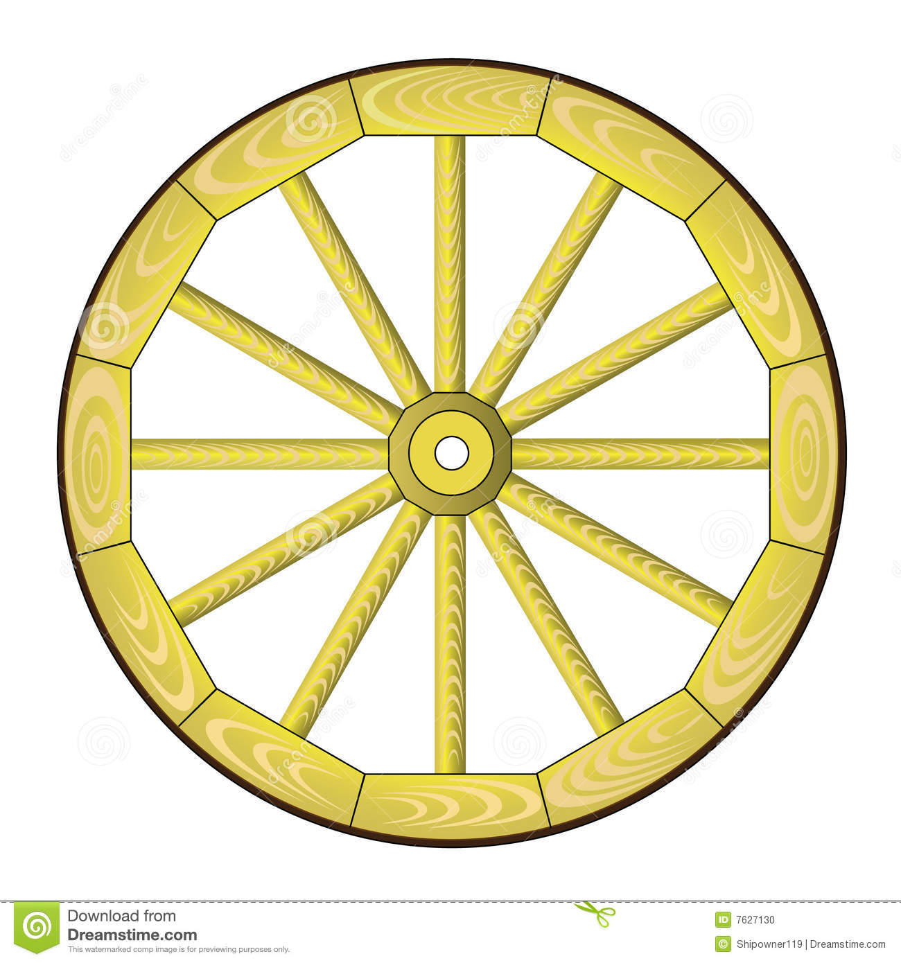 Spoke Wheel Stock Photo.