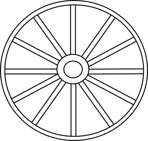 Wheel Clipart Black And White.