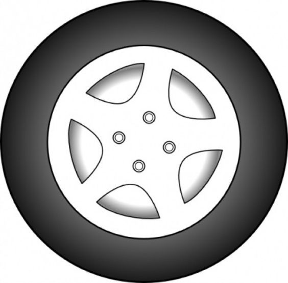 Wheel Chrome Rims clip art.