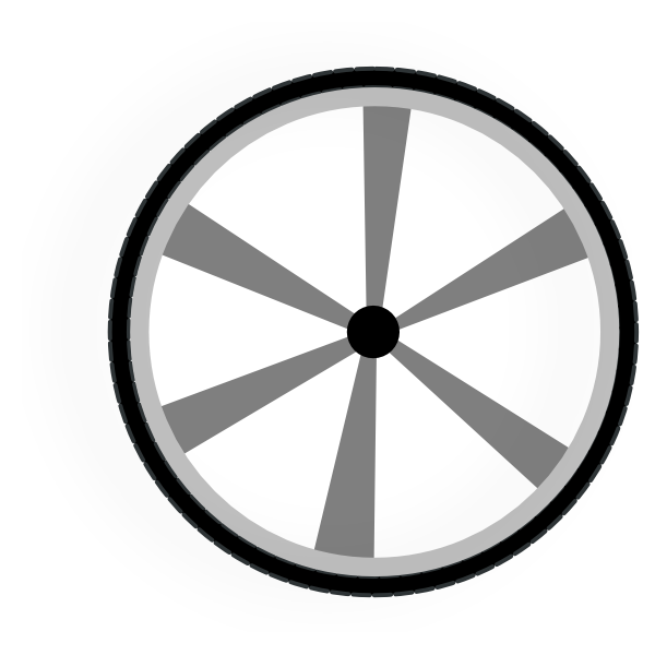Wagon Wheel Gray Clip Art at Clker.com.