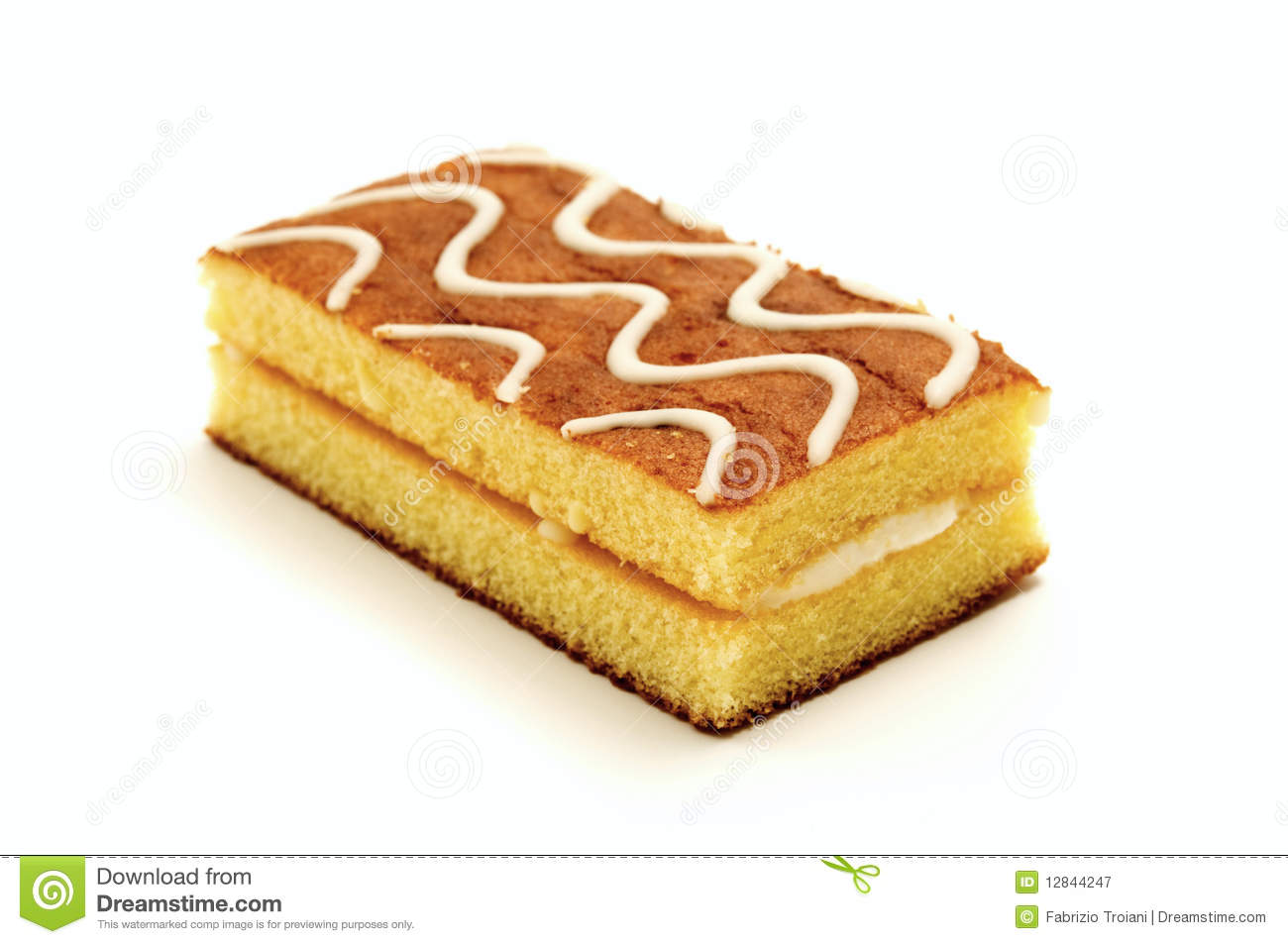 Sponge Cake Royalty Free Stock Photography.