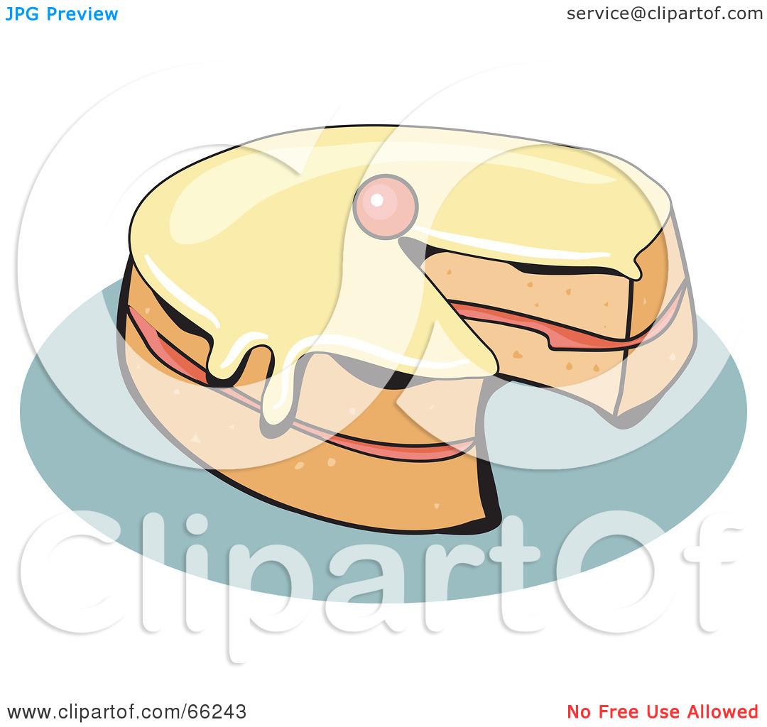 Sponge cake clipart.